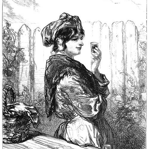 Woman with Glass